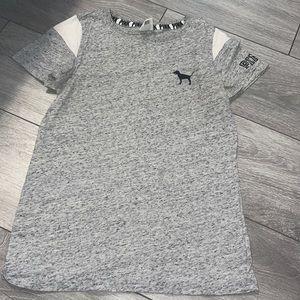 PINK gray top